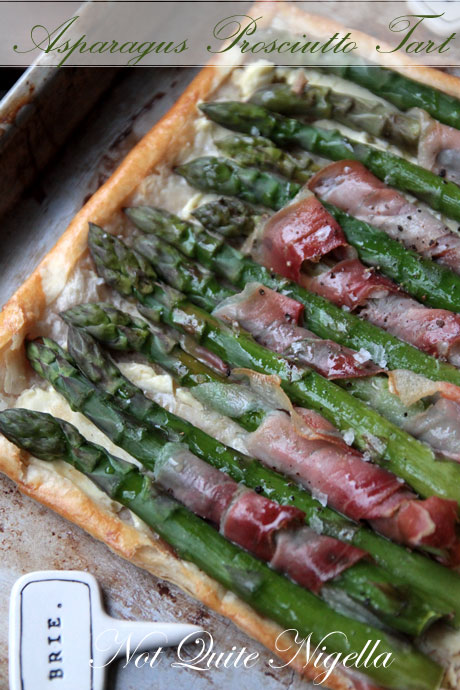 Asparagus tart by not Quite Nigella!