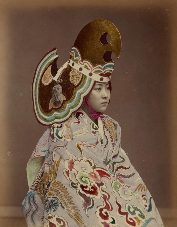 (Unknown). Performer in Bugaku-Style Costume. Japan. 1880s.